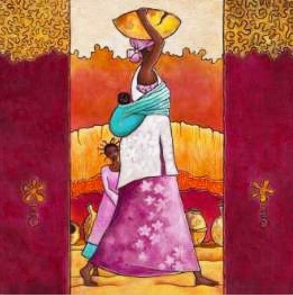 pinturas-modernas-con-paisajes-y-mujeres-africanas