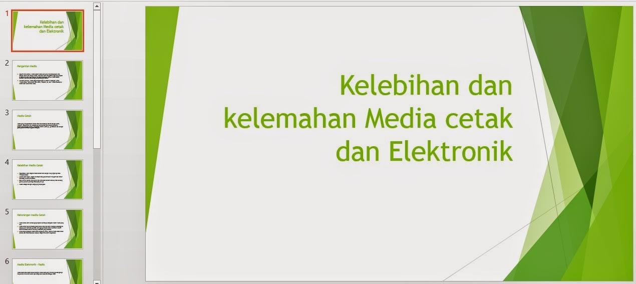 Media Cetak Dan Media Elektronik Media Cetak Dan Elektronik