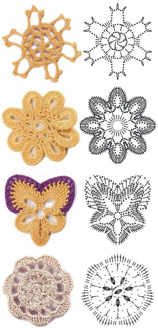 Crochet Flower Diagram 45 Images Crochet Flowers Diagram 5