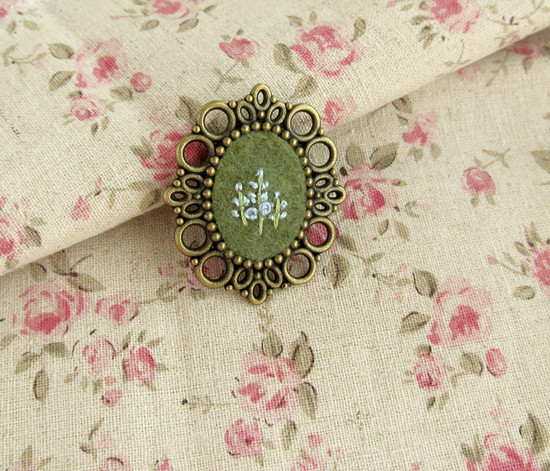 Floral brooches, цветочные броши