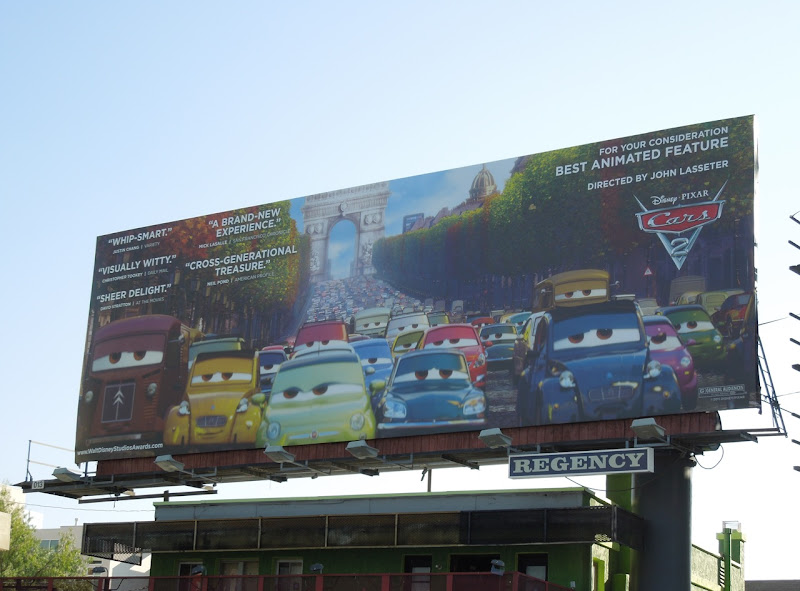 Cars 2 Oscar consideration billboard