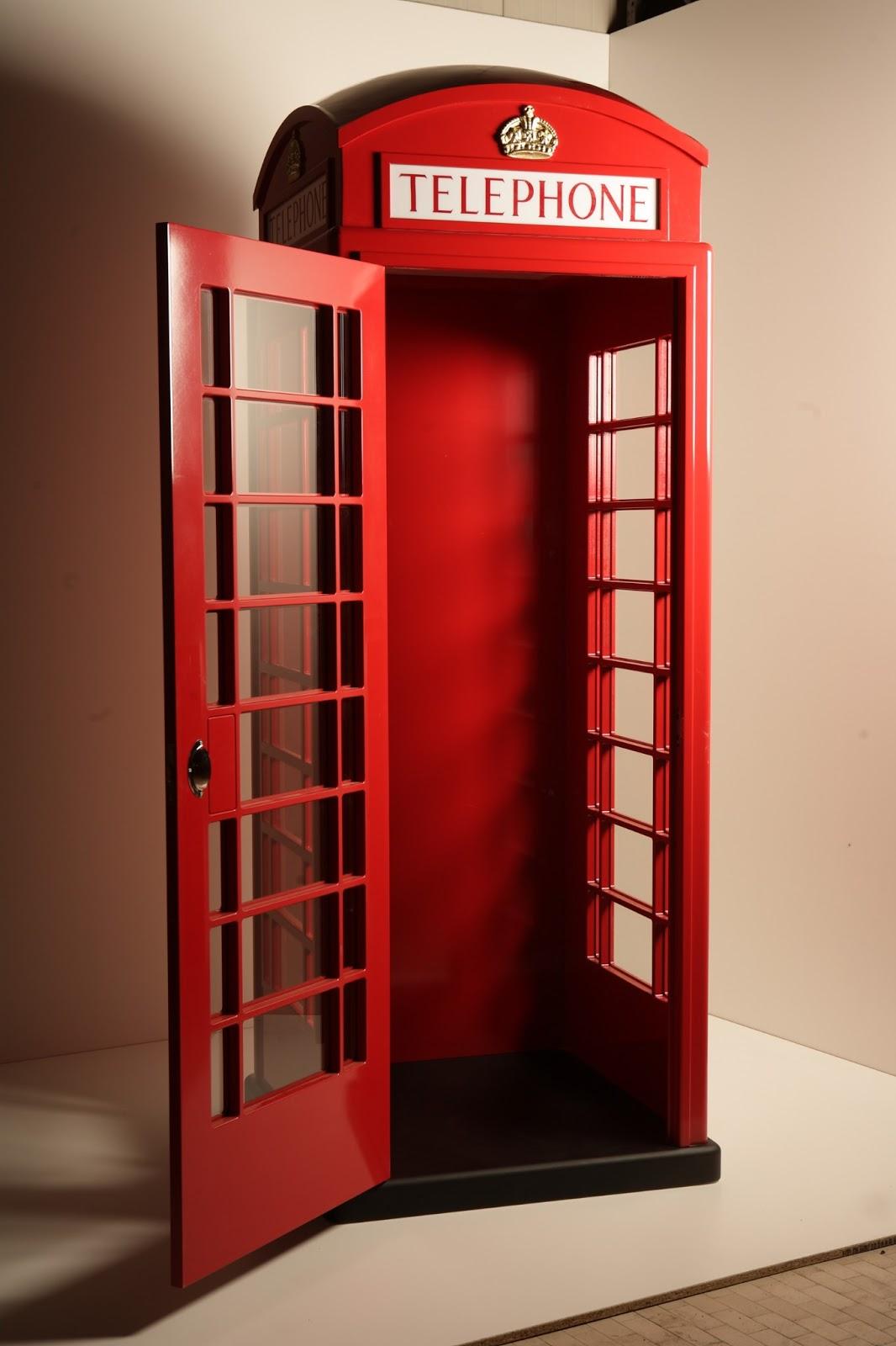 cabina telefonica in legno - idea arredo - Cabina Telefonica