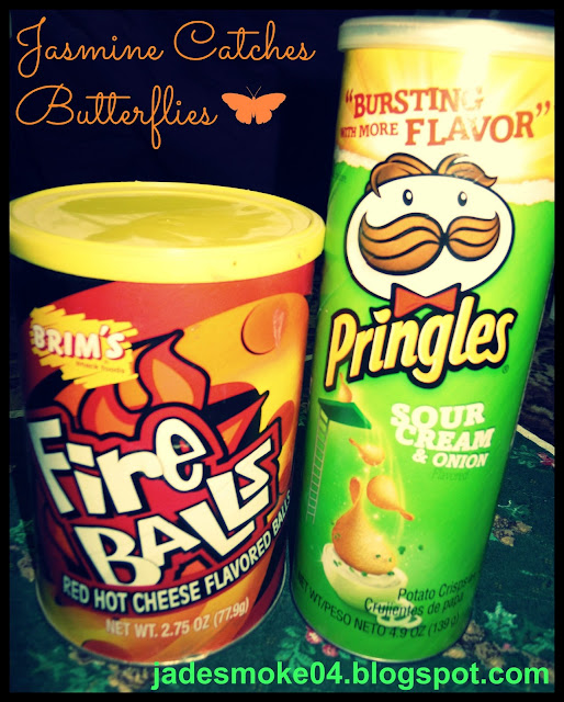 Brim's Fire Balls &amp; Pringles Sour Cream and Onion