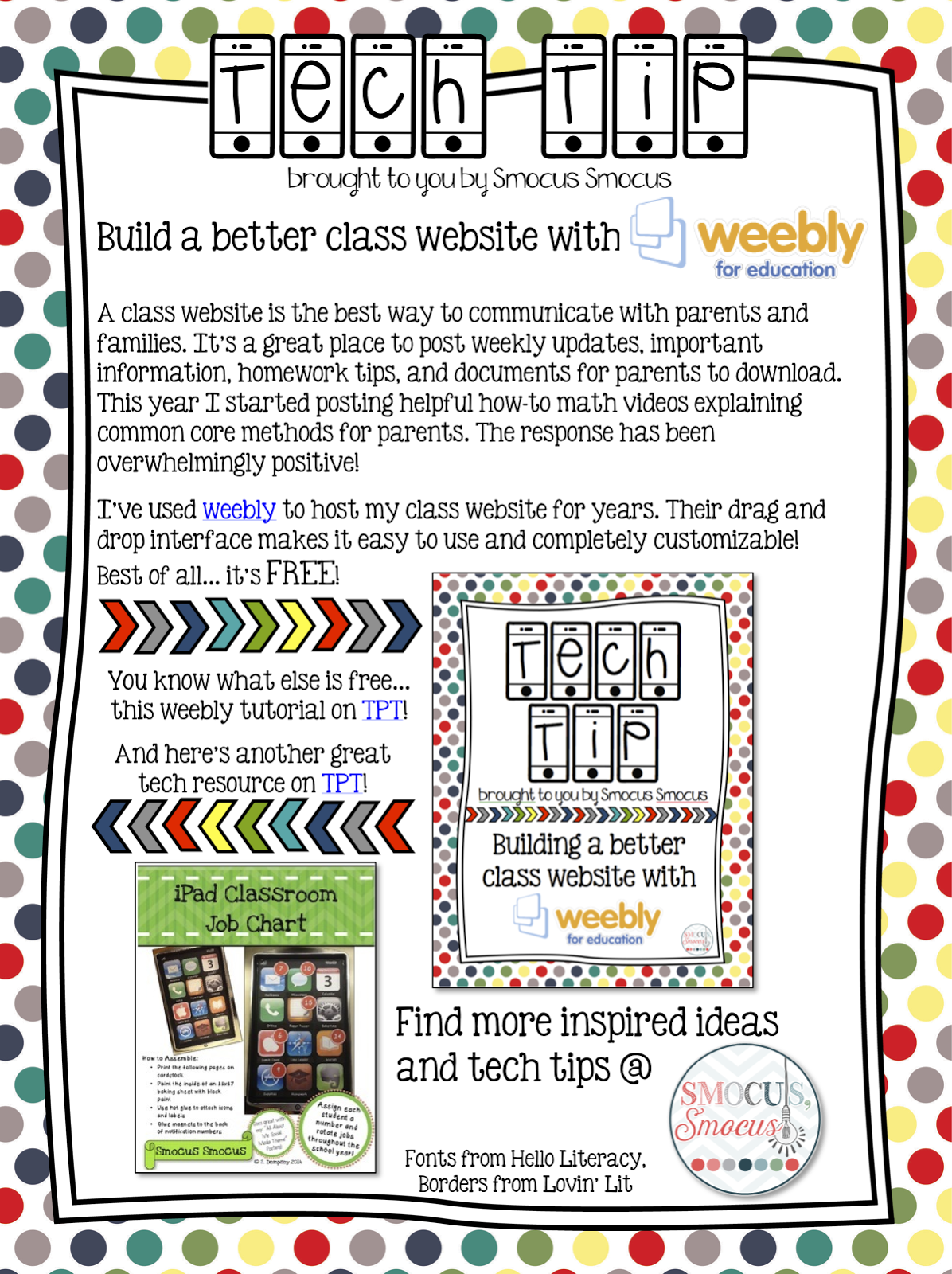 https://www.teacherspayteachers.com/Product/Tech-Tip-Building-a-class-website-1774474