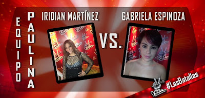 batalla iridian vs gabriela la voz