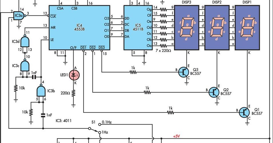 Mains Frequency Monitor Circuit Diagram - The Circuit