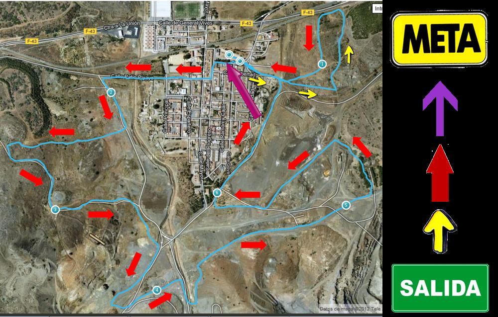 Circuito General : Cross minero aclaracion circuito carrera general