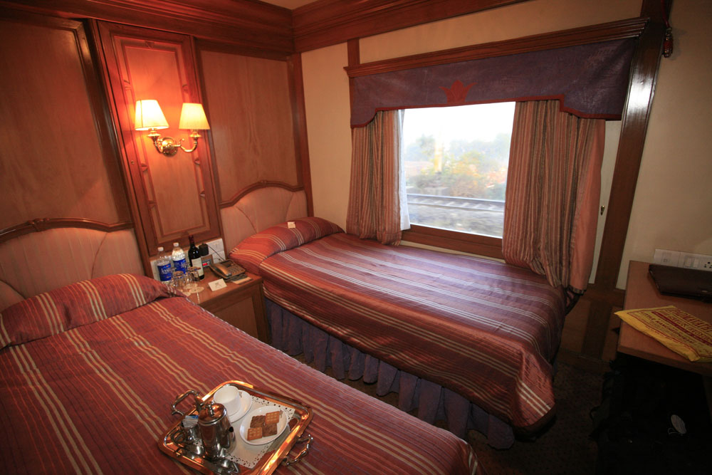 How do indian maharaja train cabins fair verses five star for Bedroom express