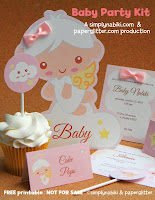 kit chá de bebê para imprimir grátis tema anjinho