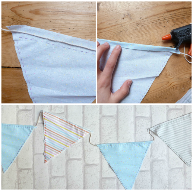 DIY Bunting - perfect for making a college dorm/uni room feel more homely | Nimble Note