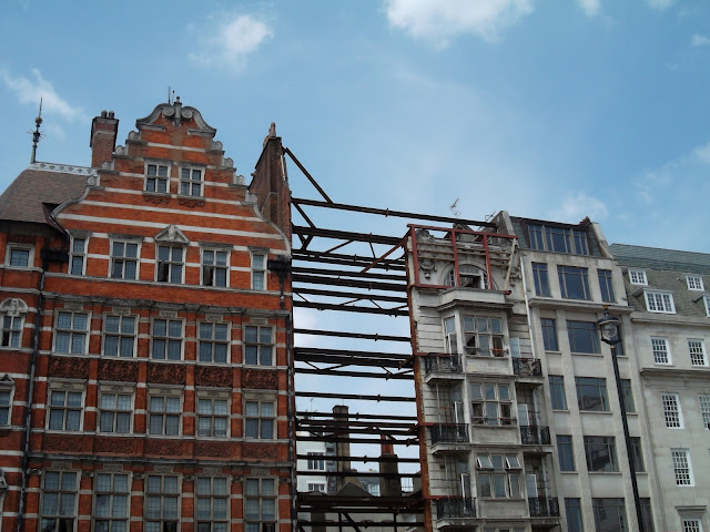 Pall Mall London building demolished except for frontage