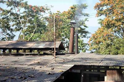 Chimney of Mungpoo cinchona quinine factory