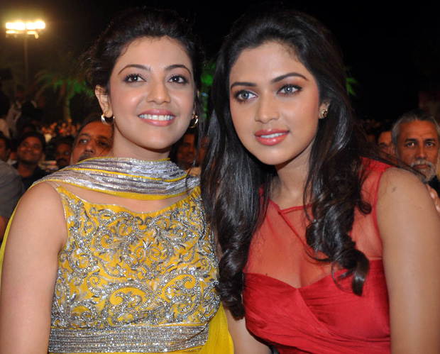 amla paul ,kajal agarwal at Naayak Audio Launch Photos