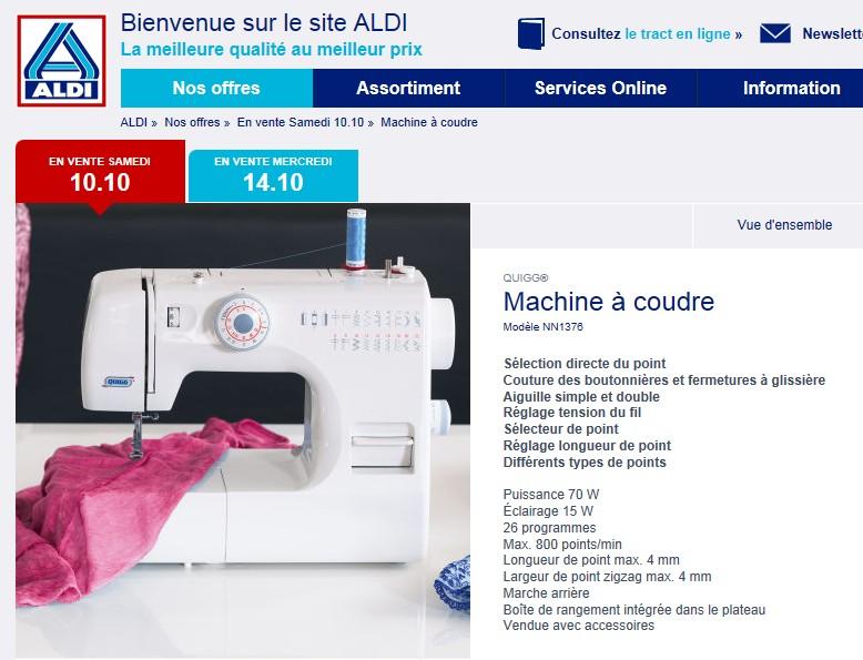 Machine coudre toyota showroompriv une adresse unique for Machine a coudre 2015