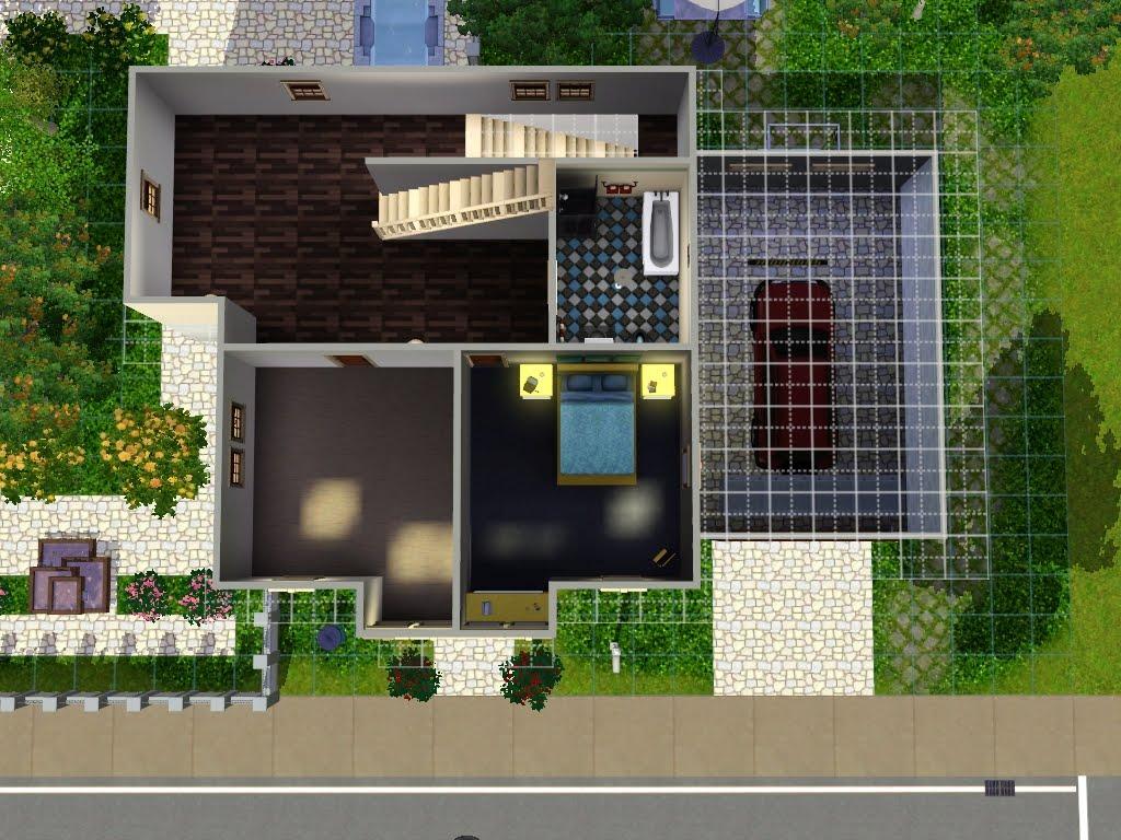 Kiki koy 4 the sims casa 3 piani con garage e jacuzzi for Garage programma progetti gratuiti