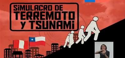 Simulacro de terremoto 9,0 grados y tsunami CHILE-PERU, 23 de Octubre 2012