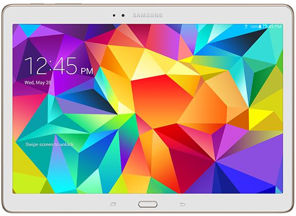 Samsung Galaxy Tab S 10.5 LTE (front)