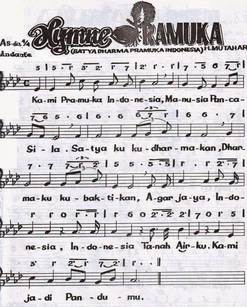 Not Lagu Hymne Pramuka