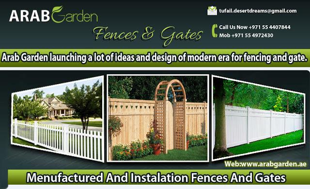 Garden Fences Uae, Wooden Fences Uae, Picket Fences Uae, Fences Uae, Bridge  Fences Uae,Blacony Fences Uae