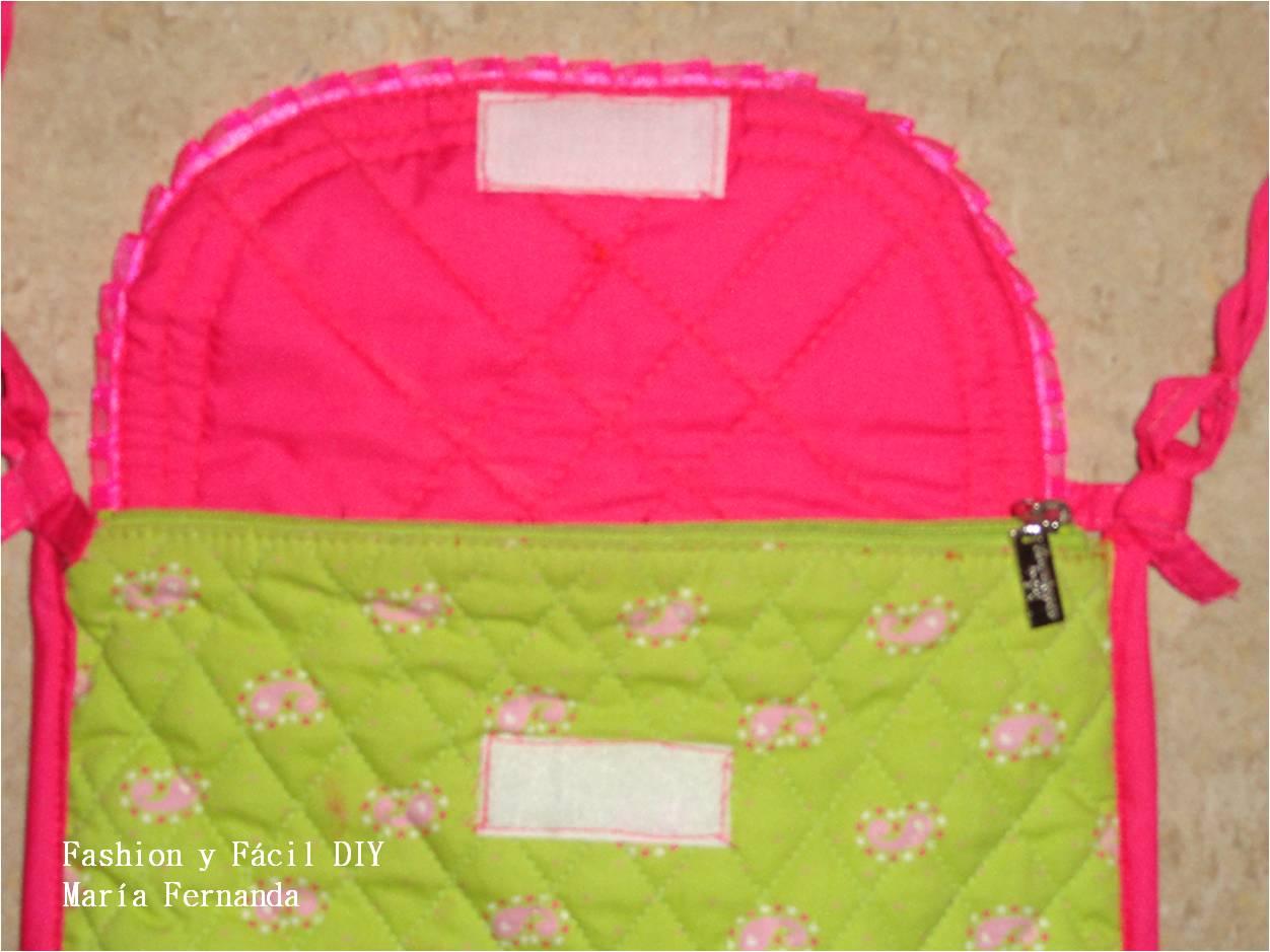 Billetera de tela con 4 compartimentos bolsos carteras m - Como hacer bolsos con salvamanteles ...