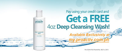 Proactiv promo: Free 4oz Deep Cleansing Wash when you pay using your credit card