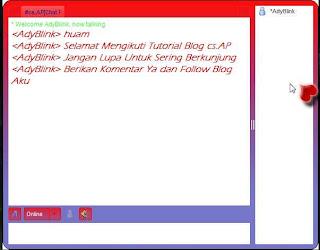 Cara Membuat Chat Room Pada Blog