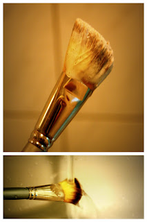 Soapy makeup brush