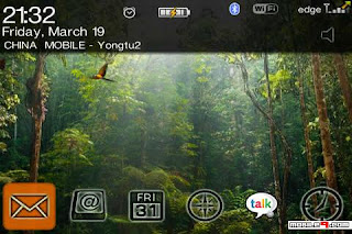 1278643521 Animated Rainforest for BlackBerry Bold 9000 Themes