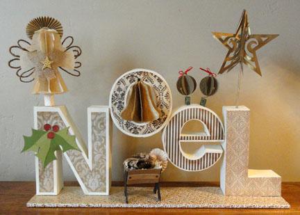 "'NoeL"" 3d Letter Box Ensemble"