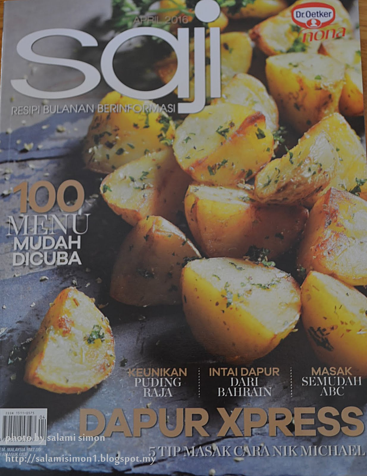 RESEPI AMIE'S LITTLE KITCHEN DI MAJALAH SAJI EDISI APRIL 2016