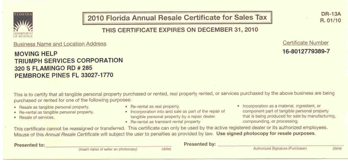 State Sales Tax State Sales Tax Exemption Florida