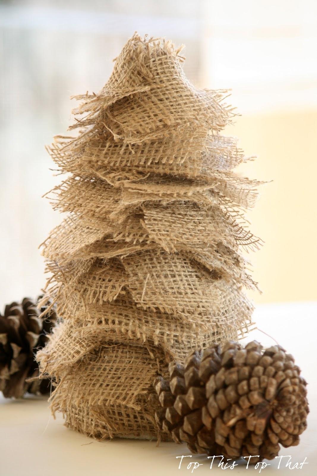 Oh burlap tree oh burlap tree duke manor farm for How to make burlap christmas decorations