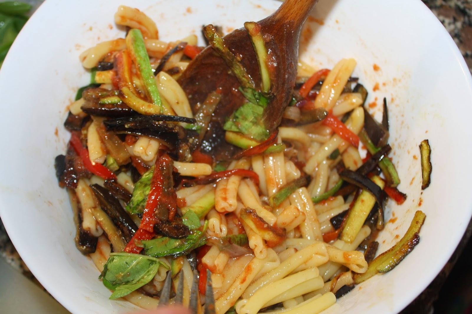 ricetta pasta con verdure saltate