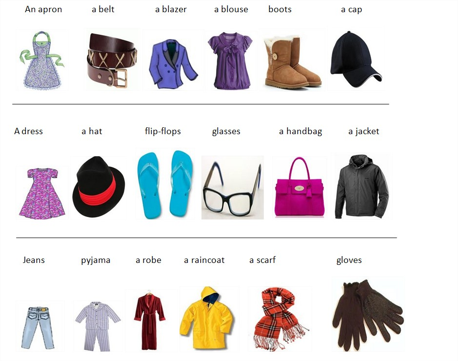 Learn English With Pleasure Clothes Vocabulary
