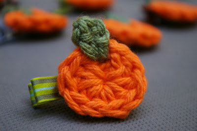 free crochet pattern pumpkin applique