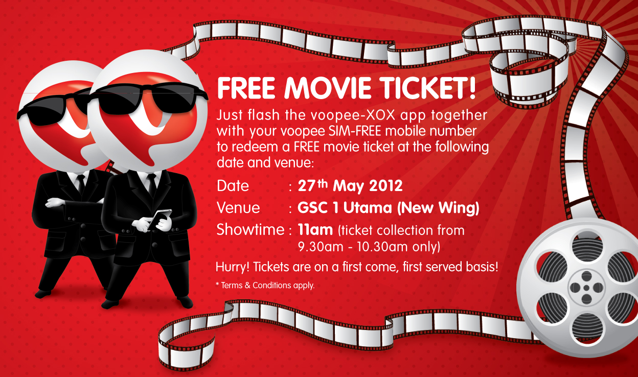 Movie Ticket Template Free movie ticket to you!