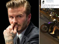 Heboh Beckham Ambil Foto Pengendara Motor Berponsel Sambil Bawa Anak