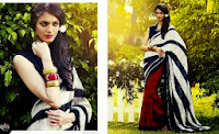 Two Shaded Bridal Saree Designs