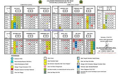 Kalender Pendidikan SD/MI tahun pelajaran 2015/2016