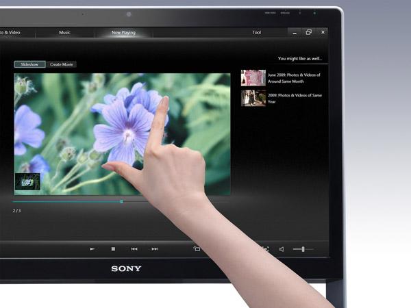 качественный дисплей моноблока Sony