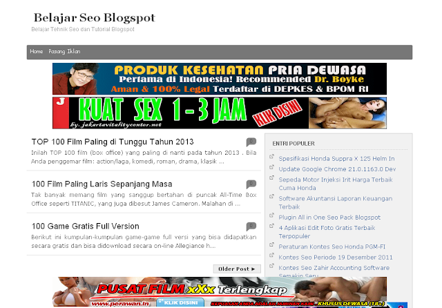 Template Blogspot SEO Friendly Terbaru, Template Blogger Terbaru, B-Seo Versi 1
