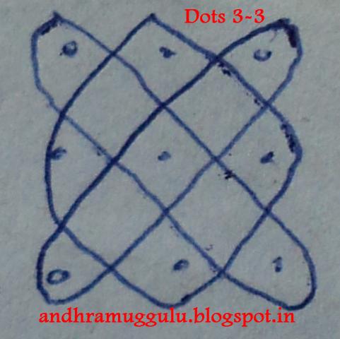 Andhra Muggulu: Simple Muggulu 2