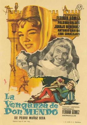 Cartel de cine La Venganza de Don Mendo