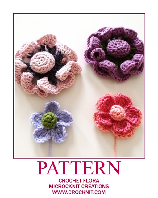 crochet patterns flowers flora motifs