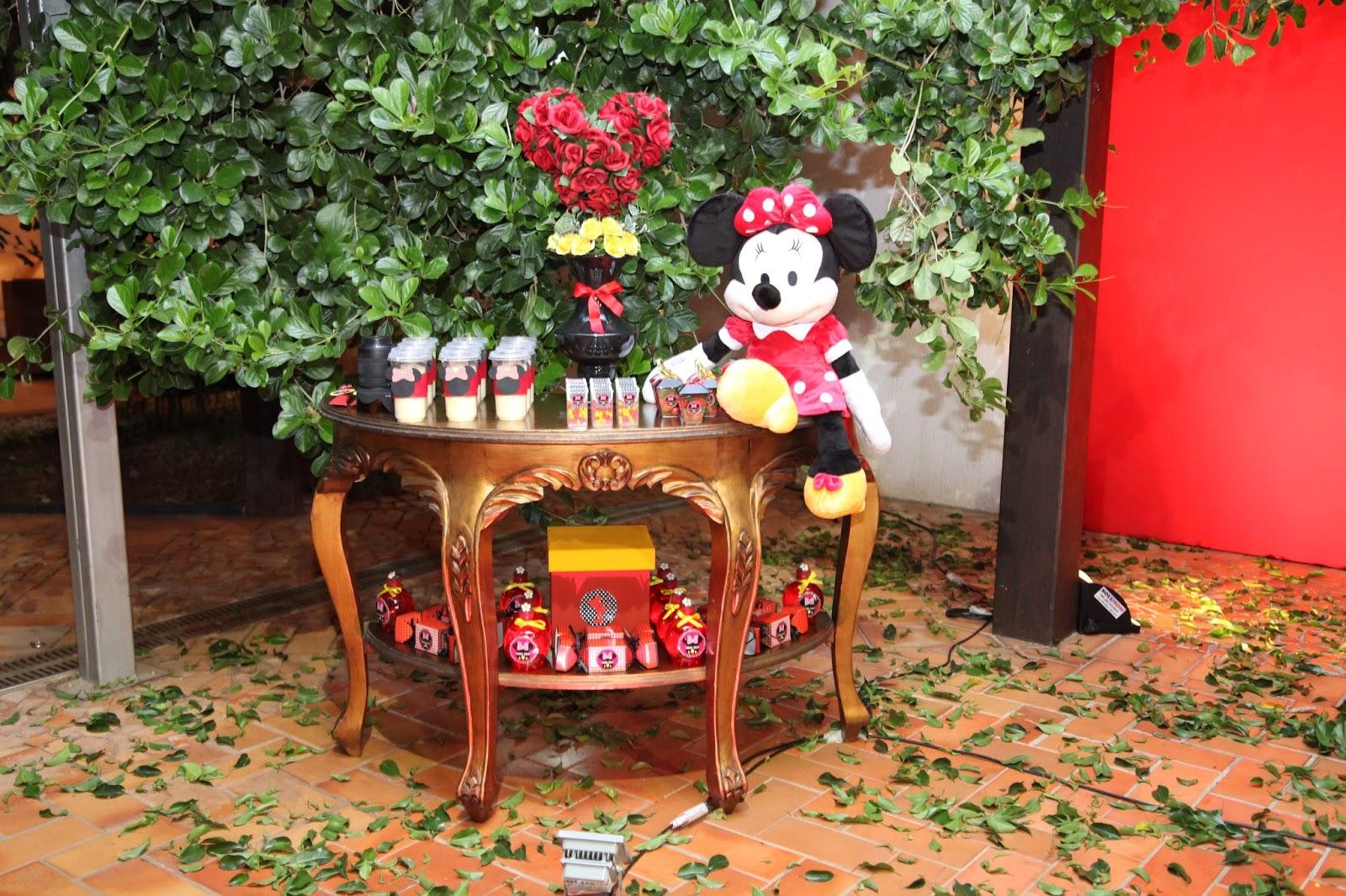 Douce Enfant: Decora??o Jardim da Minnie para a Maju.