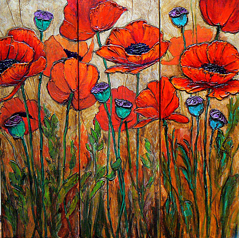 Mixed Media Poppy Workshop
