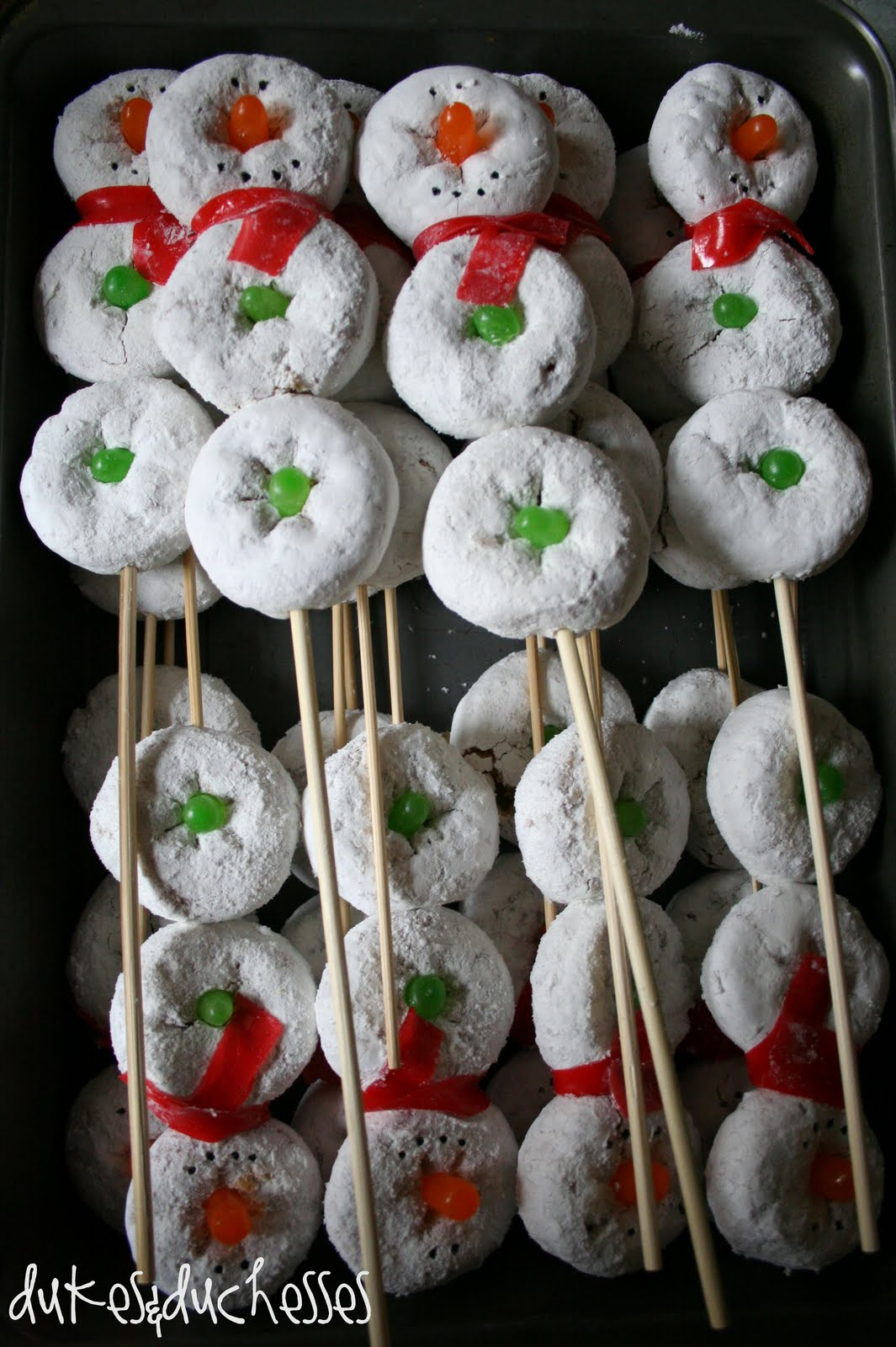 holiday snacks for preschoolers snowman on a stick donut snowman dukes and duchesses 195