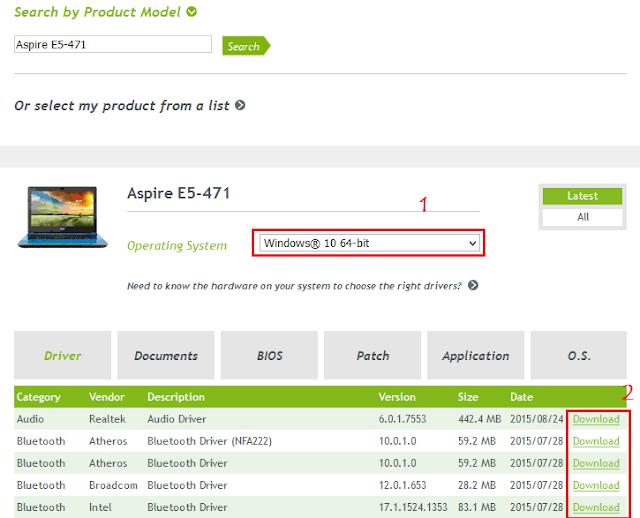 Download Driver Windows 10 64 Bit Acer Aspire E5-471