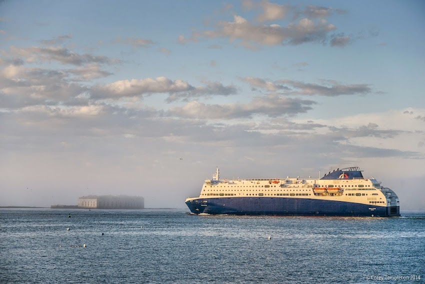 Nova Star cruise ship passing Fort Gorges in Portland Harbor May 2014 Photo by Corey Templeton