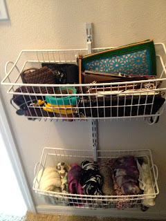 Organize clutches and scarves